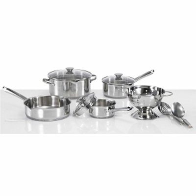 WearEver Cook & Strain Stainless Steel 10-piece Cookware Set