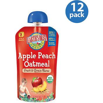 Earth's Best Organic Apple Peach Oatmeal Fruit & Grain Puree