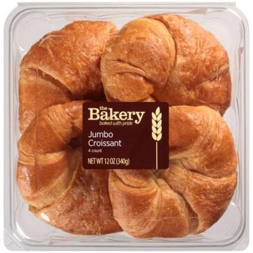 The Bakery at Walmart The Bakery Jumbo Croissants, 4 count, 12 oz