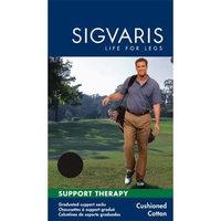 Sigvaris Cushioned Cotton 15-20mmHg Closed Toe Men's Sock Size: A (6.5-8.5), Color: Black 99