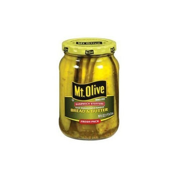Hickory Farm Mt. Olive Old Fashioned Sweet Bread & Butter Sandwich Stuffers Pickles 16 oz