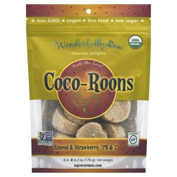 Wonderfully Raw Coco-Roons Organic Gluten Free Almond & Strawberry PB & J 6.2 oz