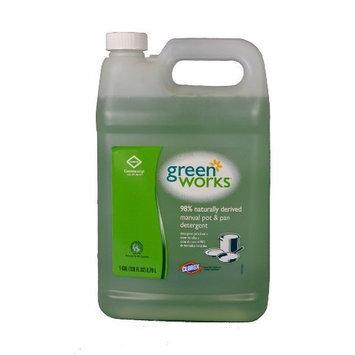 Clorox Green Works 30388 Natural Manual Pot and Pan Liquid Detergent, Original, 128 fl oz Can