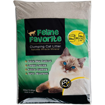 Feline Favorite All-Natural Clumping Cat Litter, 30 lb Bag