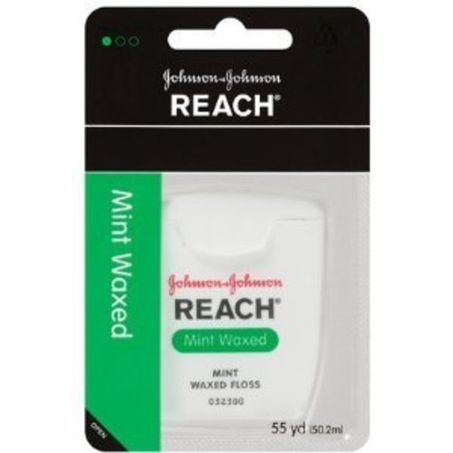 Johnson Johnson Reach Dental Floss, Waxed-Mint-55 yds. (Quantity of 2)