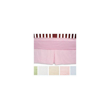 American Baby Company Heavenly Soft Minky Dot Crib Skirt