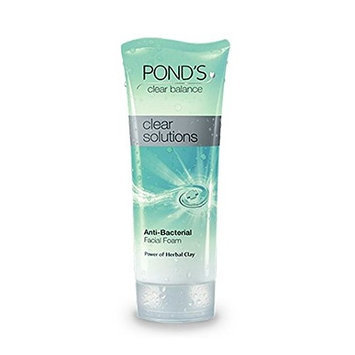 Pond's Clear Solutions Anti-Bacterial Facial Scrub with Herbal Clay 100g (Pack of 2)