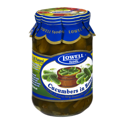 Lowell Foods All Natural Cucumbers in Brine