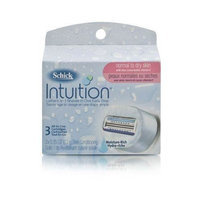 Schick Intuition, Normal to Dry Skin, Refill Cartridges, 3 Cartridges