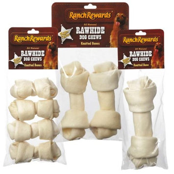 Pet Pals RR806 04 Ranch Rewards Rawhide Bones 4-5 In 4-Pkg