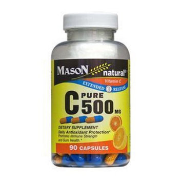 Mason Natural, Vitamin C 500 mg, Time Release, 90 Capsules