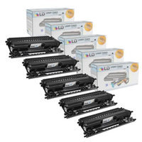 LD Compatible Brother TN115BK Set of 5 Black Laser Toner Cartridges for the Brother: HL-4040CDN, MFC-9450CDN, HL-4070CDW, DCP-9045CDN, MFC-9840CDW, MFC-9440CN, HL-4040CN, DCP-9040CN Printers