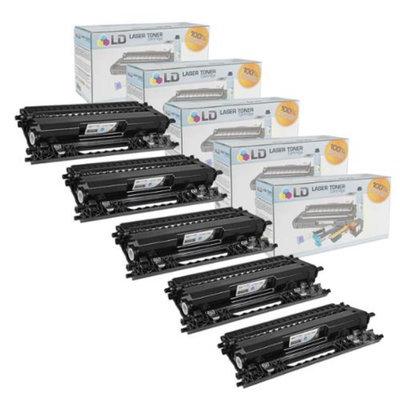 LD Compatible Brother TN115BK Set of 5 Black Laser Toner Cartridges for the Brother: HL-4040CDN, MFC-9450CDN, HL-4070CDW, DCP-9045CDN, MFC-9840CDW, MFC-9440CN, HL-4040CN, DCP-9040CN Printers