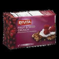 Ryvita Whole Grain Rye Crispbread Fruit & Seed Crunch