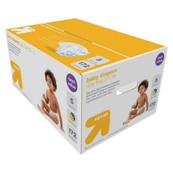 up & up Disposable Diapers Bulk Size 5 172 ct