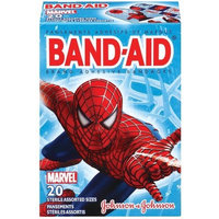 Band-Aid Brand Adhesive Bandages, Marvel Spider-Man Decorated Bandages, 20-Count Assorted Sizes (Pack of 8)