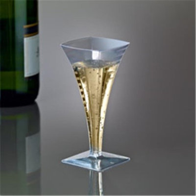 EMI Yoshi EMI-SFC2 Squares Mini Champagne Glass 2 oz - Pack of 35407 - Clear