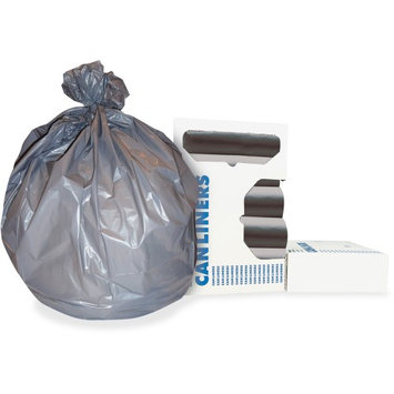 Heritage Bag Heritage Linear Low-density 0.95mil Can Liners - 56 gal - 43 X 47 - 0.95 Mil [24 Micron] Thickness - Low Density - 100/carton - Gray (h8647sgr01)