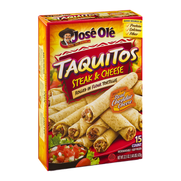 Jose Ole Taquitos Steak & Cheese - 15 CT
