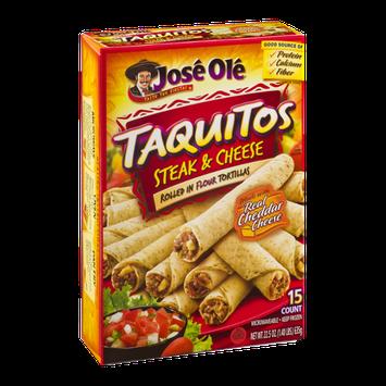 Jose Ole Taquitos Steak & Cheese - 15 CT