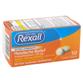 Rexall Headache Relief Coated Tablets - 50 ct