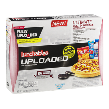 Lunchables Uploaded Ultimate Deep Dish Pizza with Bacon