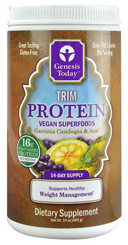 Trim Protein Genesis Today Inc 14 oz Canister