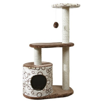 Trixie Casta Cat Tree - Brown/Beige with circles