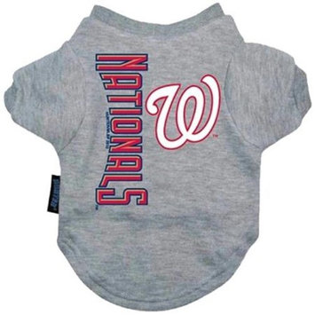 Hunter Manufacturing Hunter Mfg Washington Nationals Dog Tee Shirt - Small