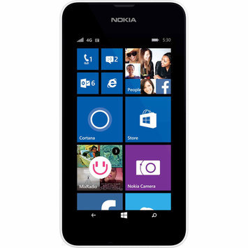 T-mobile Prepaid - Nokia Lumia 530 No-contract Cell Phone - White