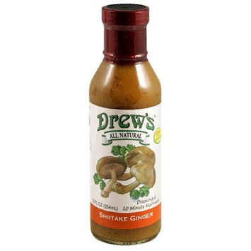 Drews All Natural Drew's All-Natural Salad Dressing and 10 Minute Marinade, Shiitake Ginger, 12-Ounce Bottle