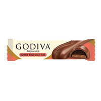 GODIVA Chocolatier Godiva Double Chocolate Bar 1.2 oz / 36 g 12 ct Layer of Cocoa Biscuit & Chocolate Ganache