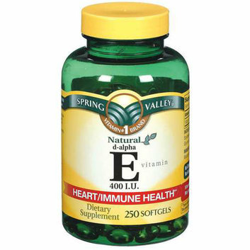 Spring Valley Vitamin E 400 I.U. D-Alpha Softgels Dietary Supplement 250 ct