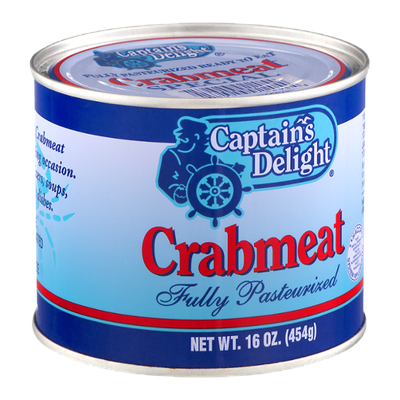 Captain's Delight Fully Pasteurized Ready to Eat Indian Special Crabmeat