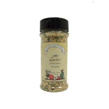 Lizzie's Kitchen Oh! So Garlic! Seasoning, 3.60-Ounce Plastic Jars (Pack of 4)