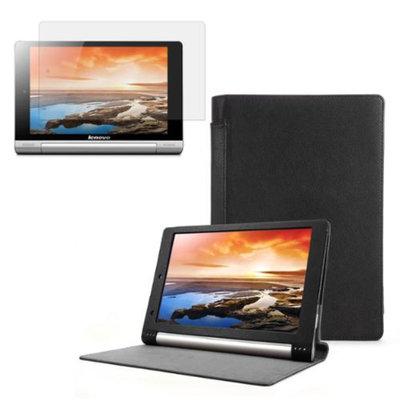 Black Folio Case with Screen Protector for Lenovo Yoga 10 (B8000)