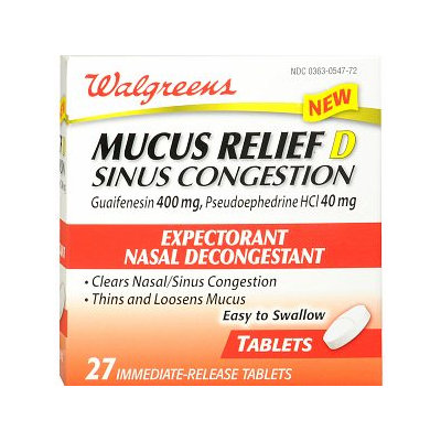 Walgreens Mucus Relief D Tablets With Pse Tablets