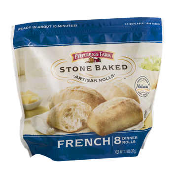 Pepperidge Farm Stone Baked Artisan Rolls French - 8 CT