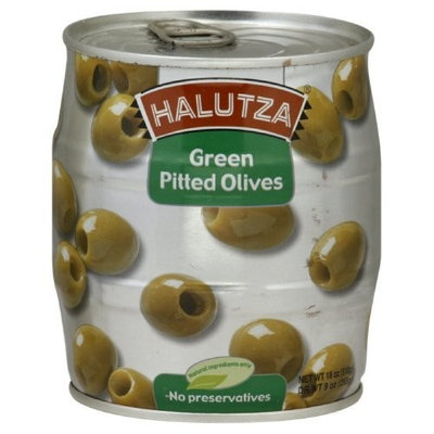 Halutza Green Olives Pitted Canned, 18-Ounce (Pack of 6)