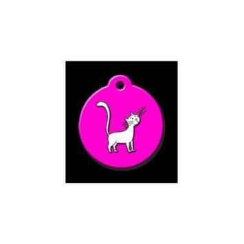 QR Code Pet ID Tag 01-CC-CA-NP Comic Cat Dog Tag