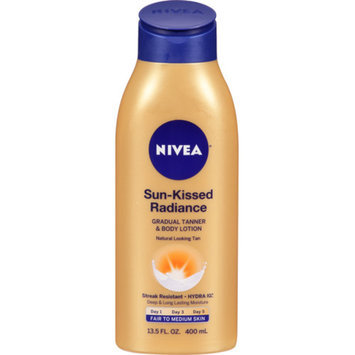Nivea Sun Kissed Radiance Gradual Tanner & Body Lotion, Fair to Medium, 13.5 fl oz