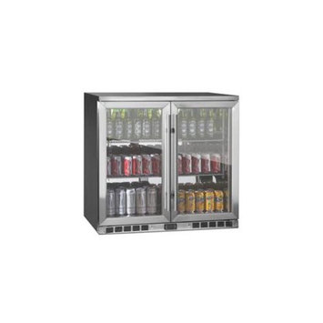 Kingsbottle KingsBottle KBU-56-SS 2-Door Front Venting Full Stainless Steel Bar Fridge