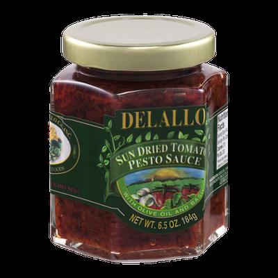 Delallo Sun Dried Tomato Pesto Sauce with Olive Oil and Basil