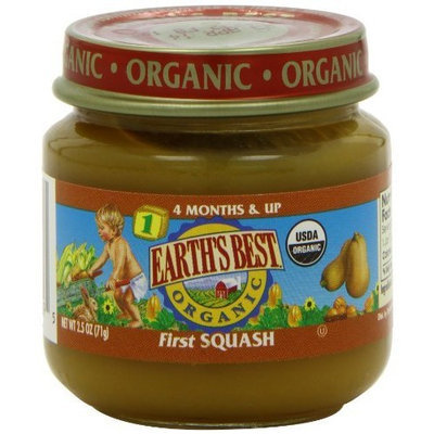 Earth's Best Organic Baby Food, First Squash, 2.5 Ounce (Pack of 12)