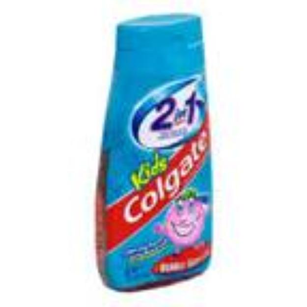 Colgate 1 Kids Fluoride Toothpaste & Mouthwash Bubble Gum Flavor