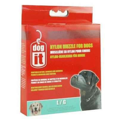 Hagen Dogit Nylon Dog Muzzle, Black, Large/7.3-Inch