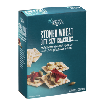 Simply Enjoy Bite Size Crackers Stoned Wheat