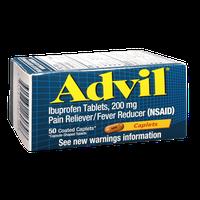 Advil Ibuprofen 200mg Coated Caplets - 50 CT