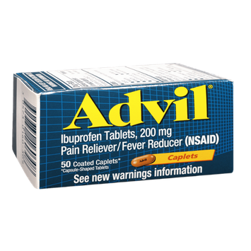 Advil Ibuprofen 200mg Coated Caplets - 50 CT