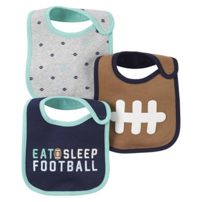 Just One You Made by Carter's Just One YouMade by Carter's Newborn Boys' 3 Pack Allstar Bib Set -